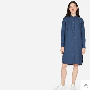 Everlane Linen Shirt Dress Indigo